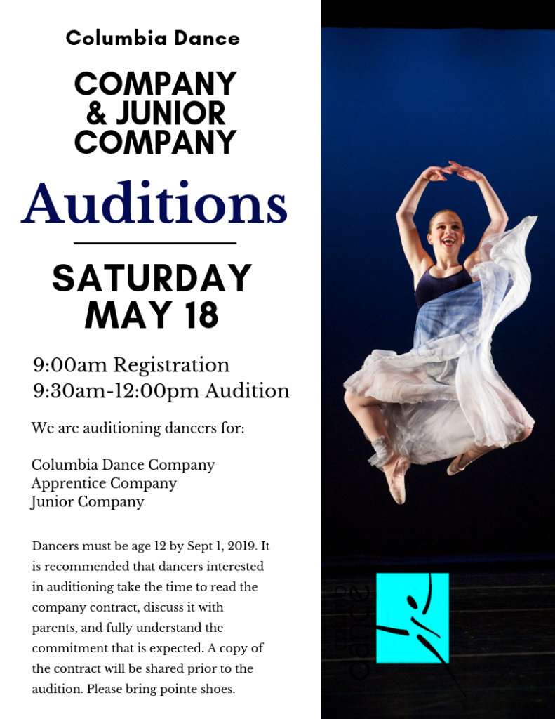 Auditions | Columbia Dance